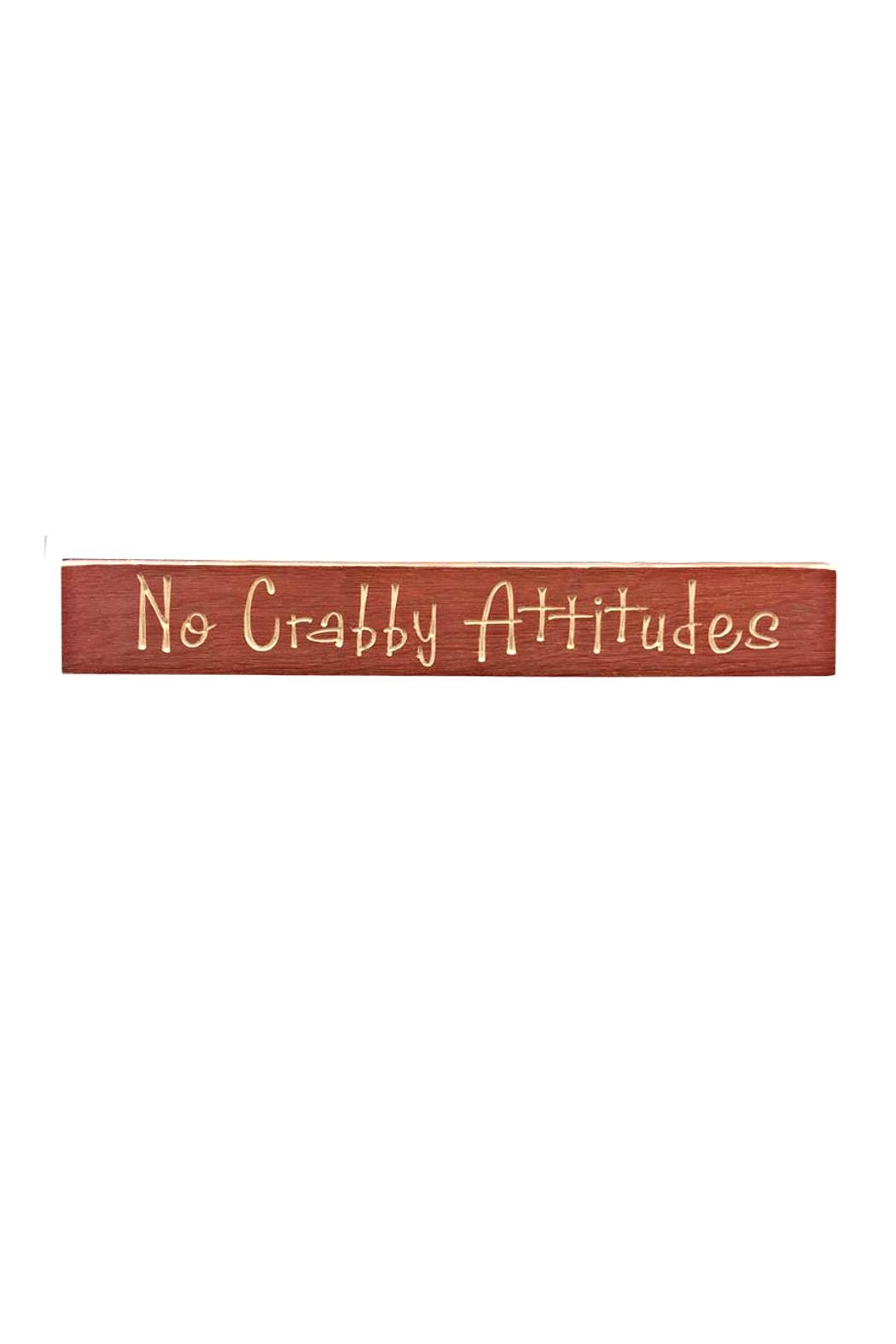 Chesapeake No-Crabby-Attitudes Sign - Main Image