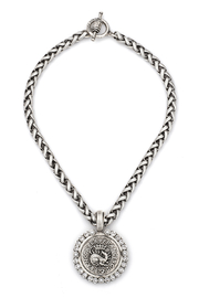 French  Kande CHEVAL CHAIN WITH DRAGO MEDALLION AND SWAROVSKI - Product Mini Image