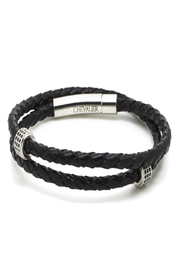 Chevalier Project Black Leather Bracelet - Product Mini Image
