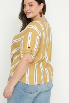 All In Favor CHEVRON BLOUSE - Alternate List Image