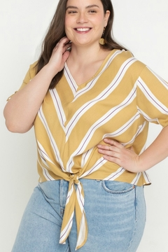 All In Favor CHEVRON BLOUSE - Product List Image