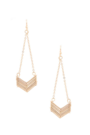 Art Box Chevron Drop Earrings - Product Mini Image