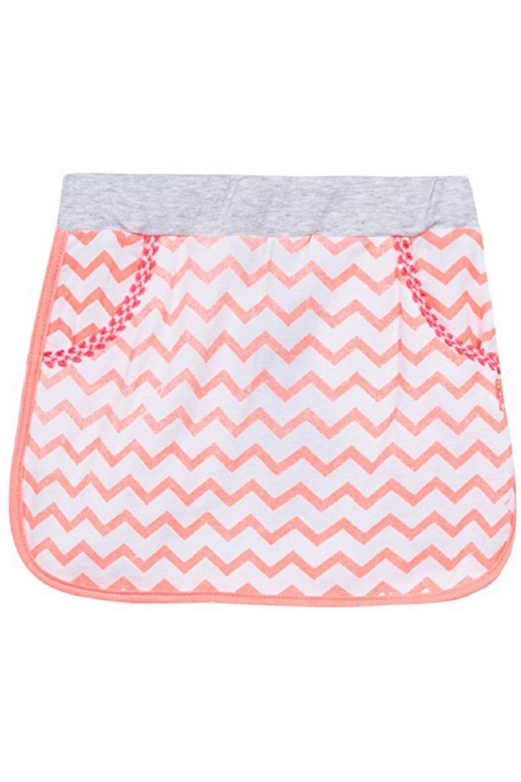 3 Pommes Chevron Knit Skirt - Front Cropped Image
