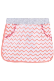 3 Pommes Chevron Knit Skirt - Front cropped