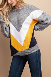 Lyn-Maree's  Chevron Knit Sweater - Front cropped