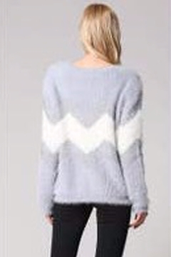 Fate CHEVRON METALIC FUZZY SWEATER - Alternate List Image