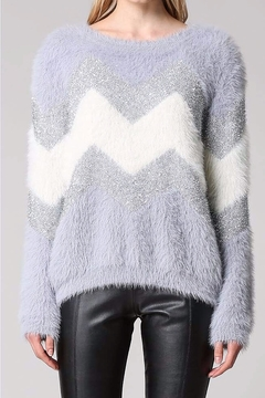 Fate CHEVRON METALIC FUZZY SWEATER - Product List Image