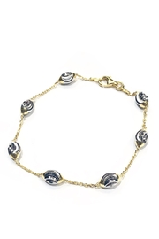 Officina Bernardi Chevron Moon Bracelet - Front cropped