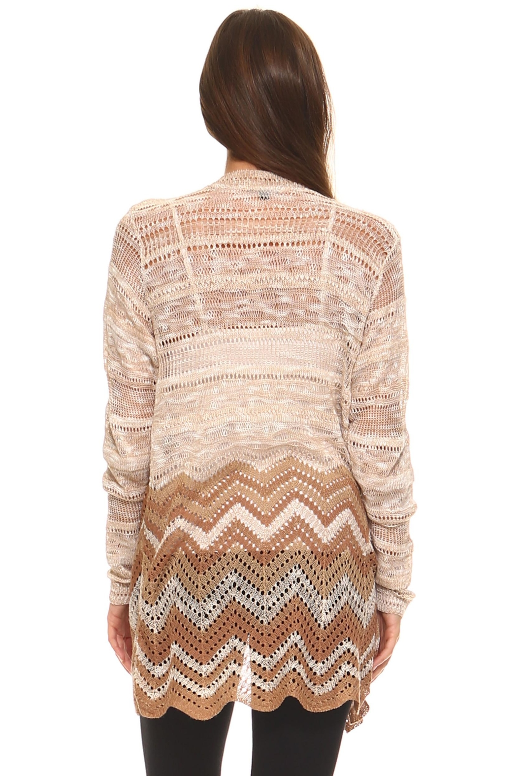 rxb Chevron Print Cardigan - Back Cropped Image
