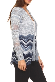 rxb Chevron Print Cardigan - Front full body