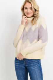 Paper Crane Chevron Print Sweater - Product Mini Image