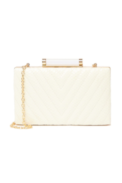 Sondra Roberts Chevron Quilted Boxy Clutch - Product List Image