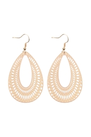Riah Fashion Chevron-Teardrop Hook-Earrings - Product Mini Image