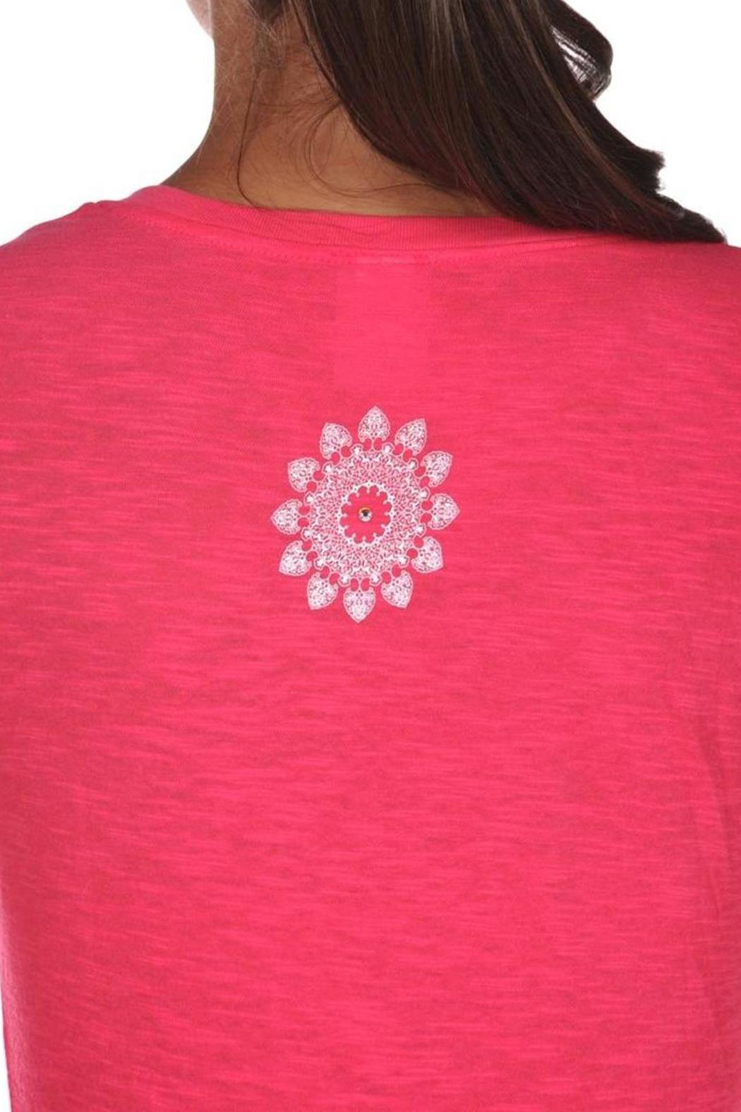 Chewy Lou Designs Namaste T Shirt - Back Cropped Image