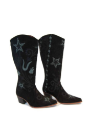 Artemis Collections Inc Cheyenne Tall Embroidered Brushed Leather 2 - Product Mini Image