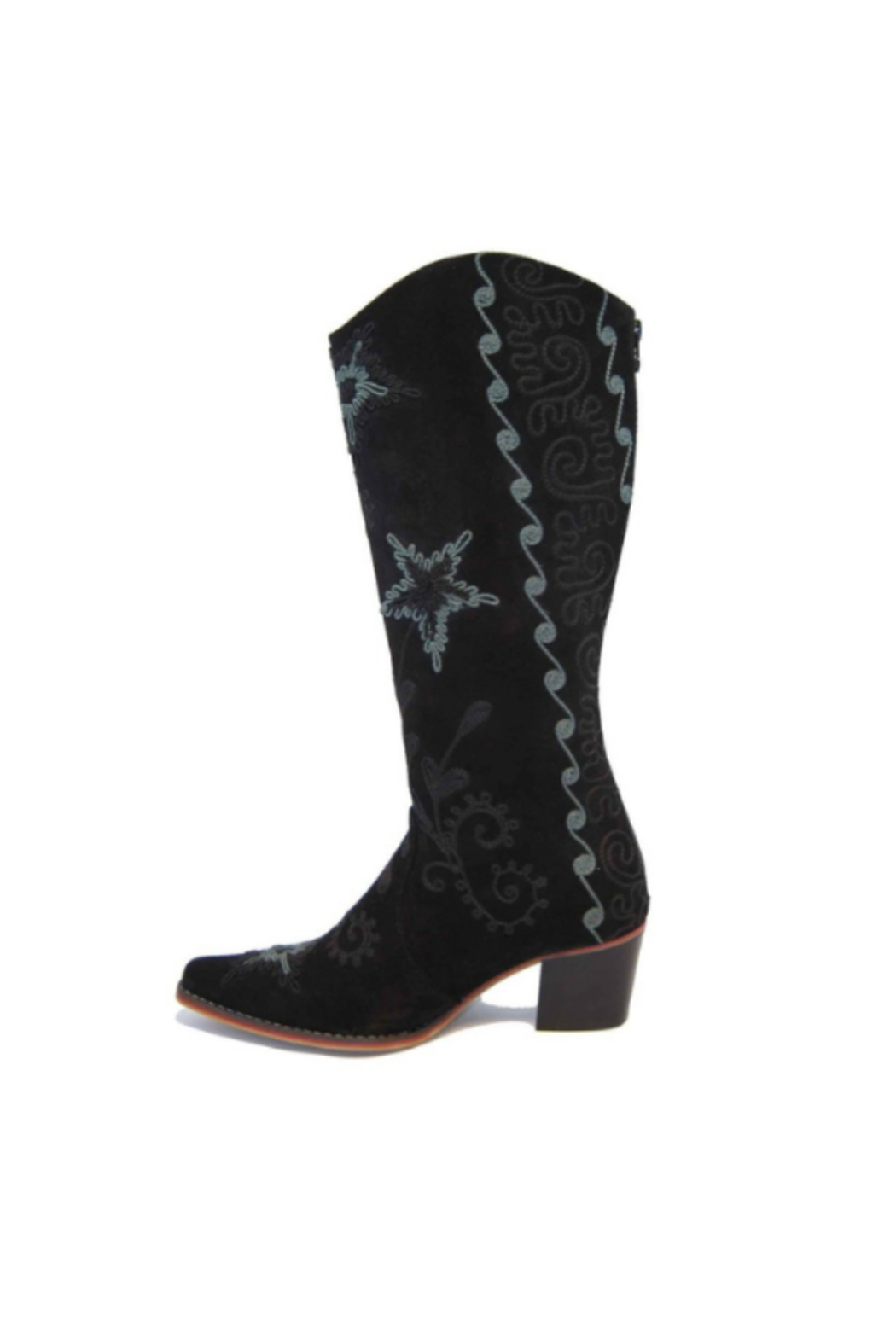 Artemis Collections Inc Cheyenne Tall Embroidered Brushed Leather 2 - Side Cropped Image