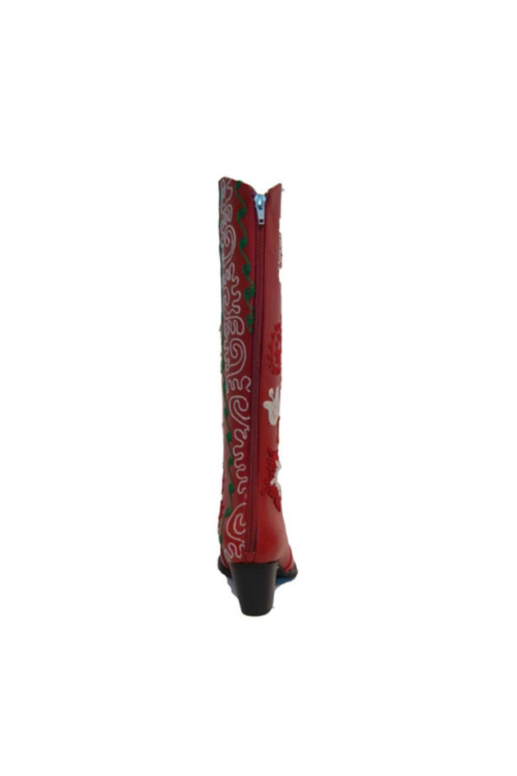 Artemis Collections Inc Cheyenne Tall Embroidered Leather 1 - Back Cropped Image