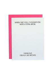 Chez Gagne Card Pink - Product Mini Image