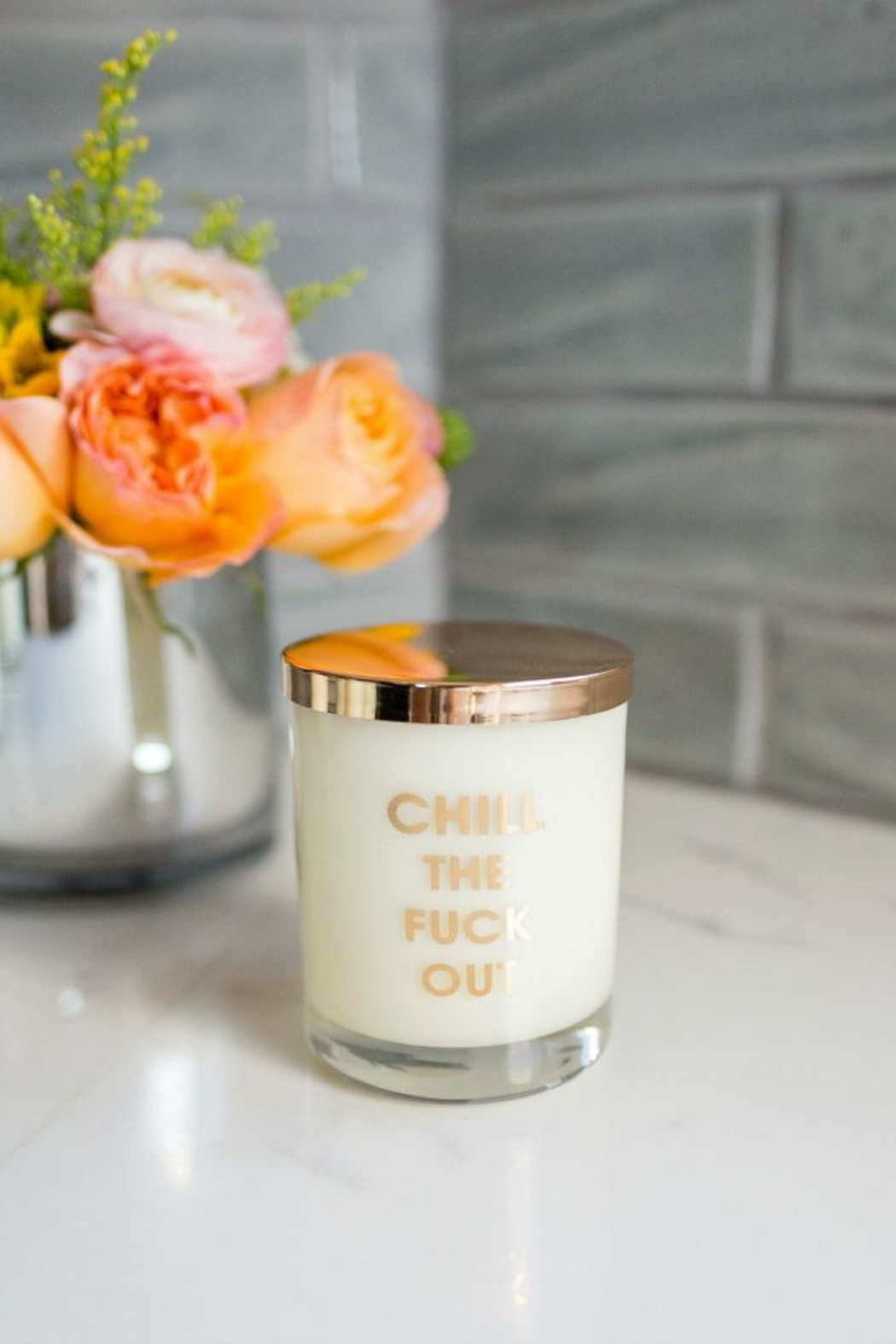 Chez Gagne Chill Out Candle - Front Full Image