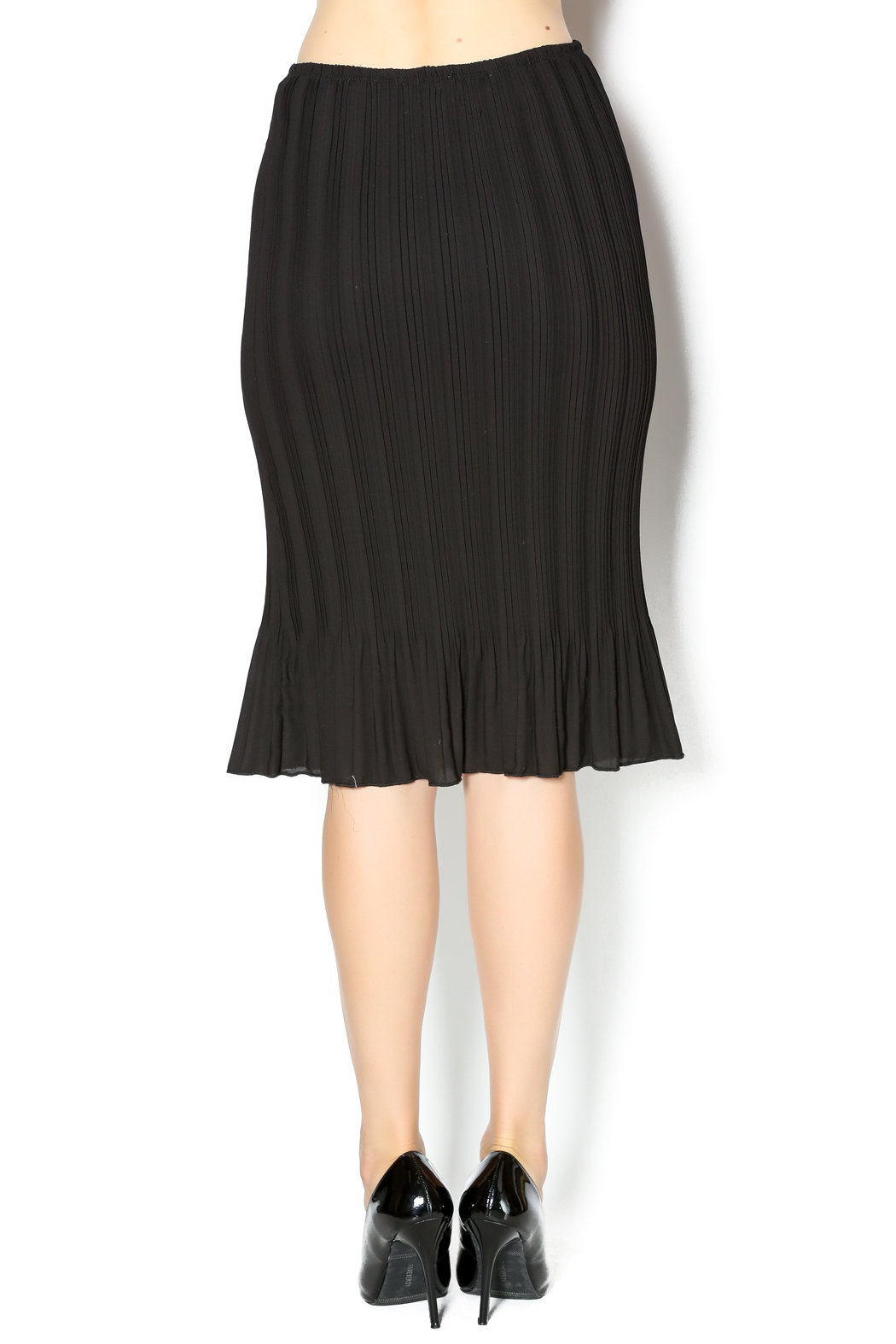 Chi Chi Chiffon Pleat Skirt - Back Cropped Image