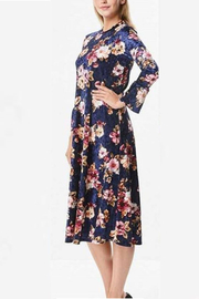 Chi Chi Velvet Floral Dress - Product Mini Image