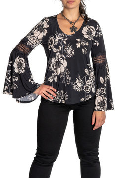 Shoptiques Product: Chiara Lace Inset Bell Slv Top