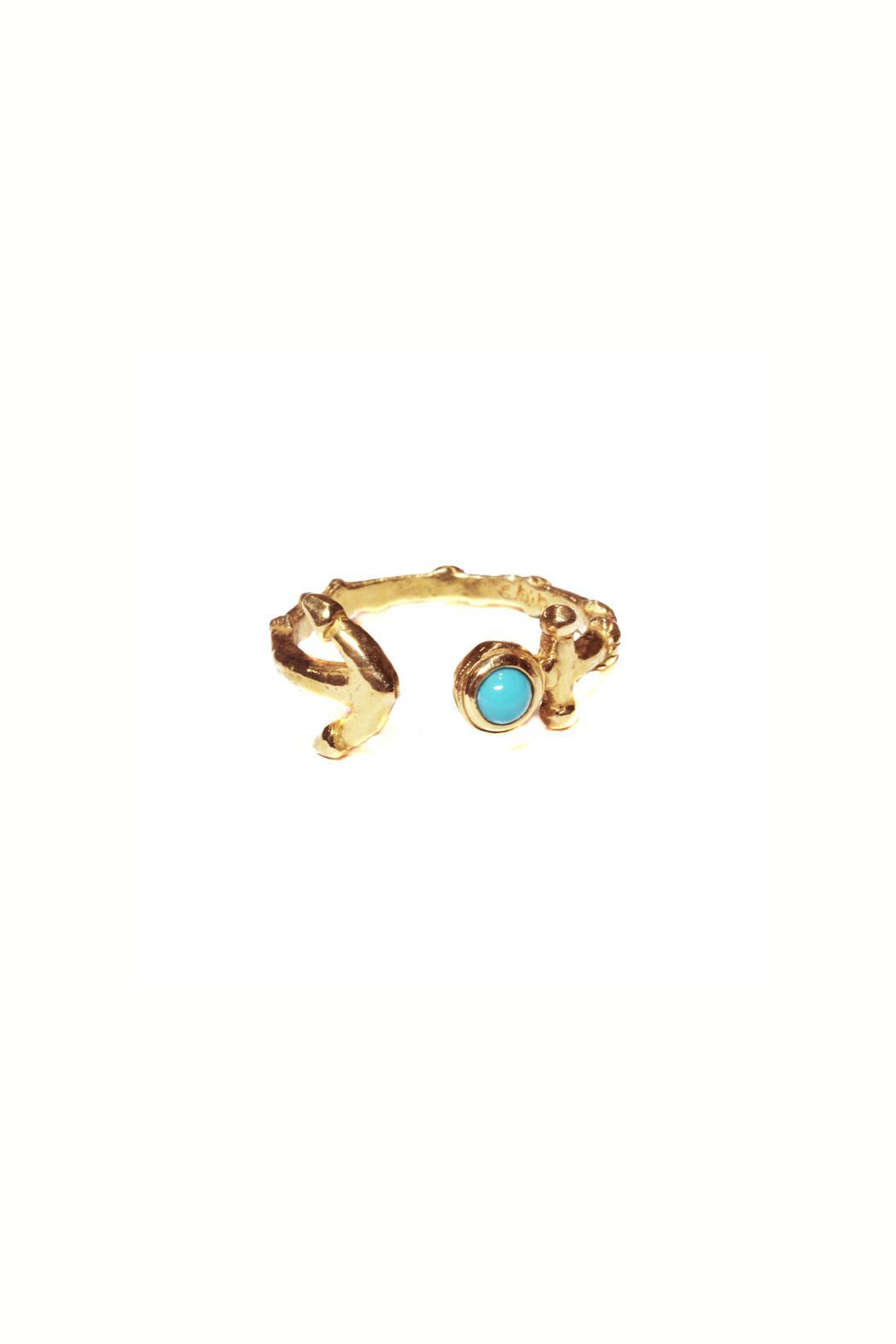 Chibi Jewels Anchor Cuff Ring - Front Cropped Image