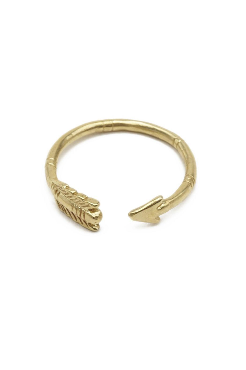 Chibi Jewels Arrow Ring Brass - Front Cropped Image