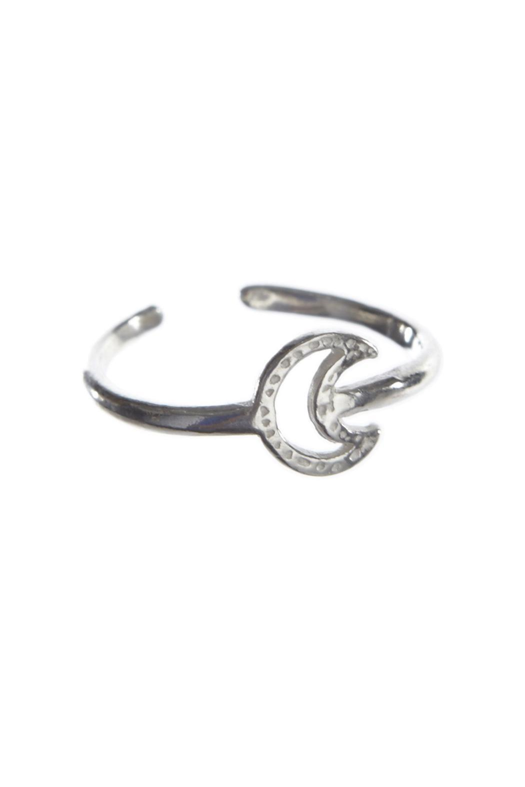 Chibi Jewels Crescent Ring Silver - Main Image