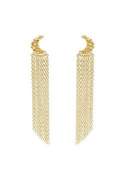 Shoptiques Product: Moon Fringe Earrings