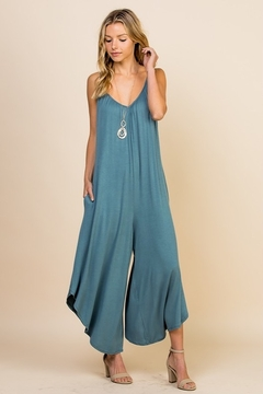 EMERALD COLLECTION Chic And Comfy Everyday Romper With Pockets. - Alternate List Image