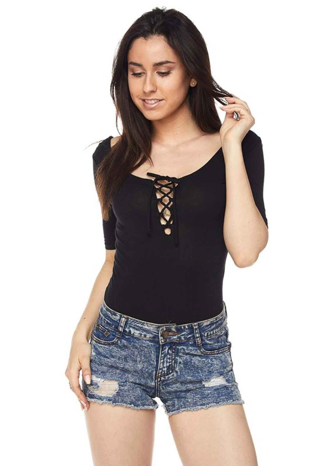 Ambiance Chic Bodysuit - Front Cropped Image