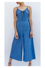 En Creme Chic Denim Jumpsuit - Product Mini Image