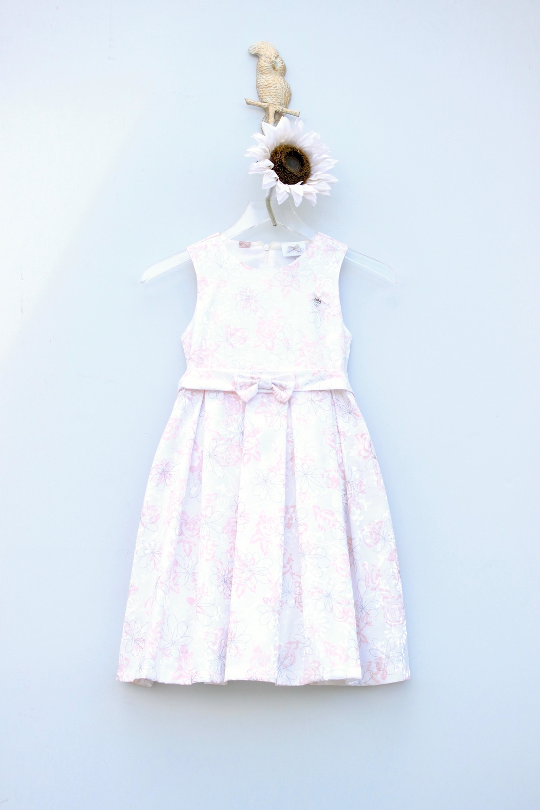 Le Chic Floral Silver Dress - Main Image