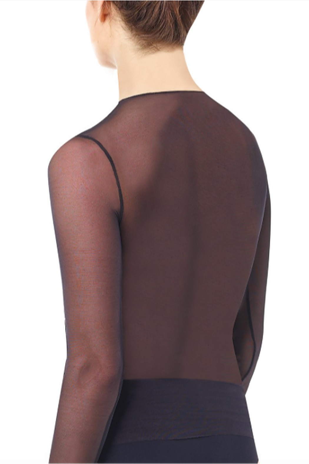 Commando Chic Mesh Long Sleeve Top - Front Full Image