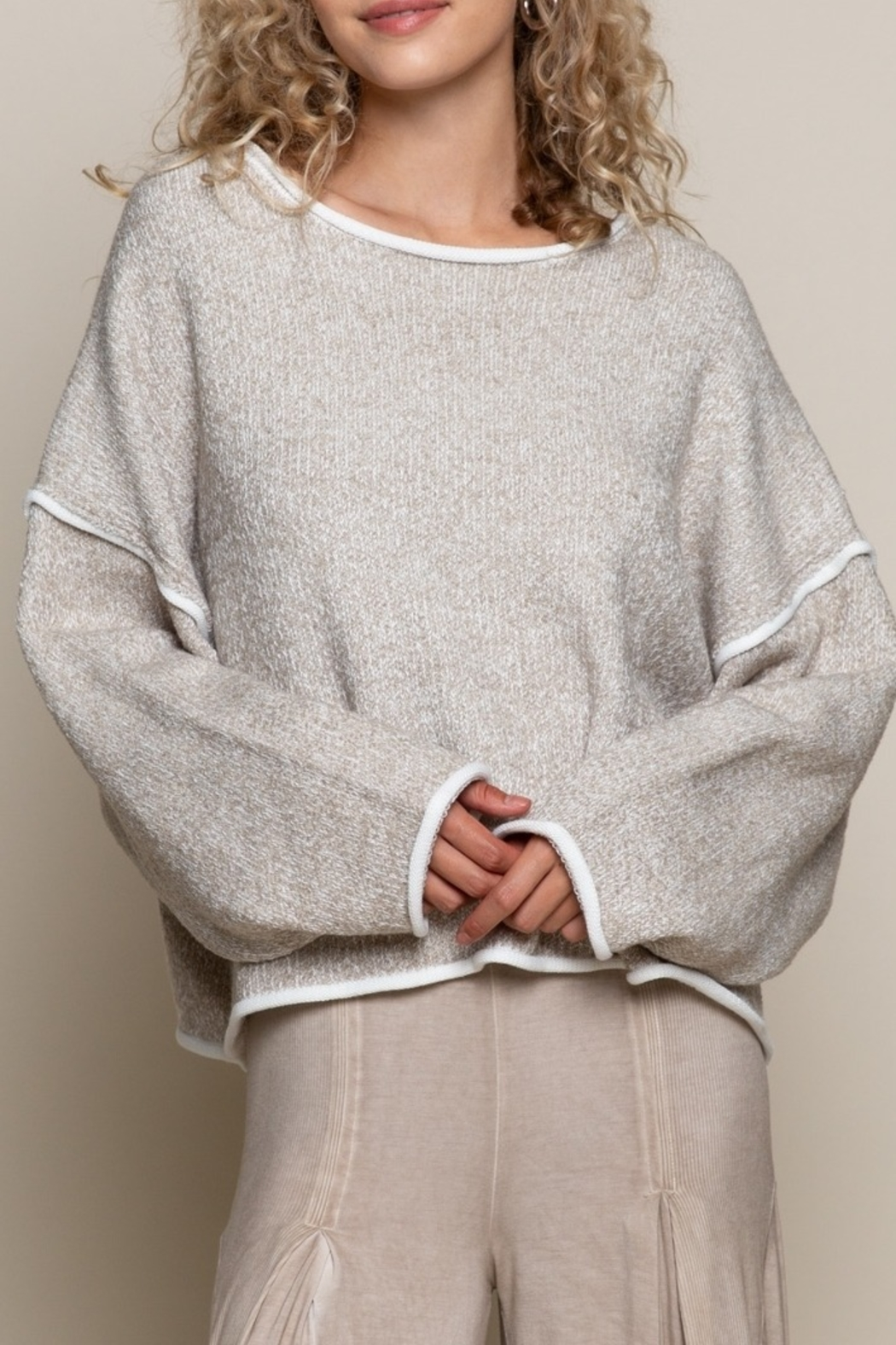POL  Chic Sweater Top - Main Image