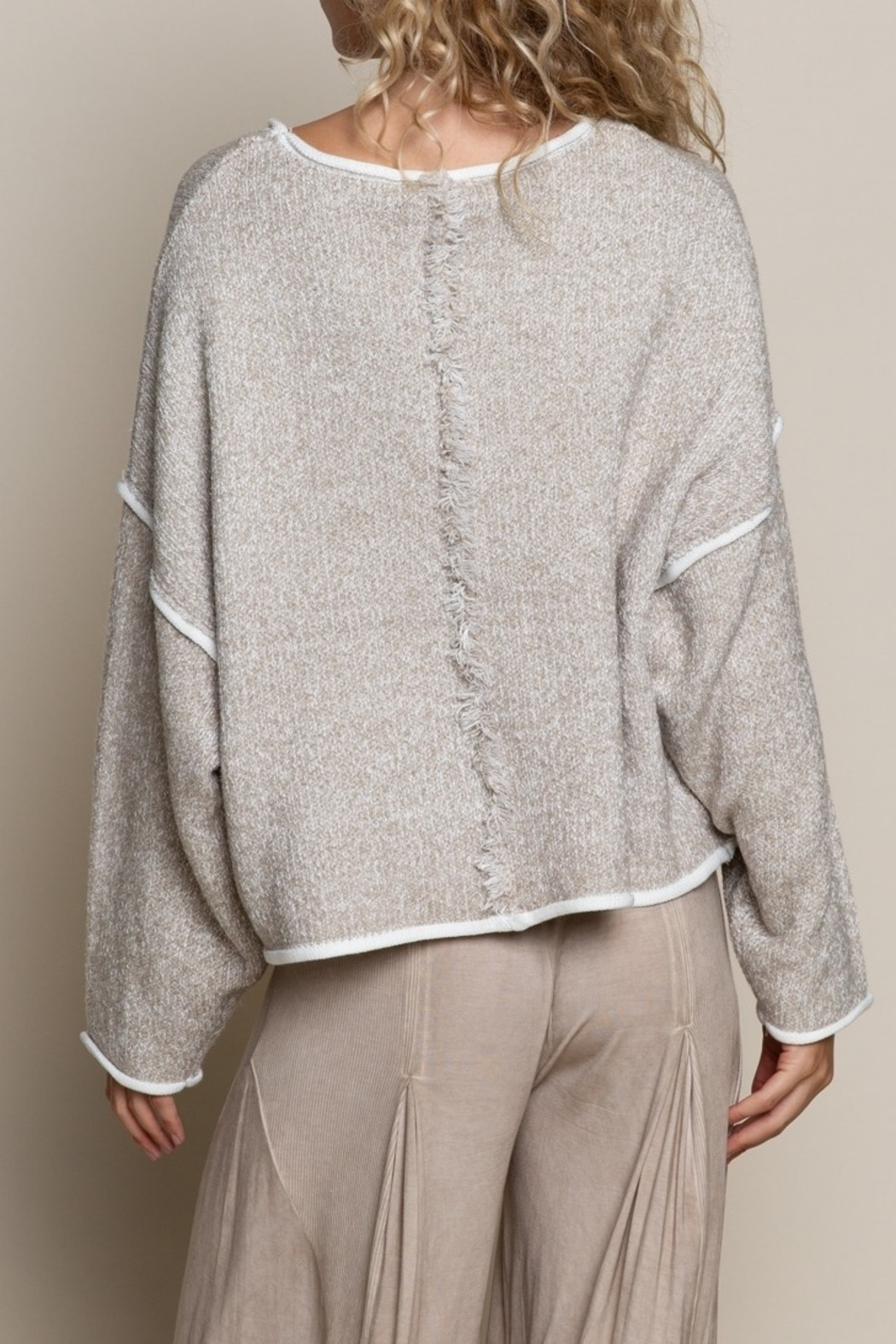 POL  Chic Sweater Top - Front Full Image