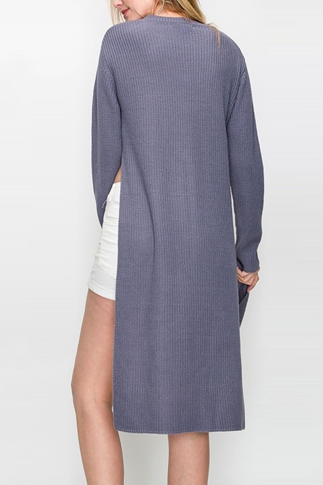 Bonded Chic Tie Sweater - Side Cropped Image