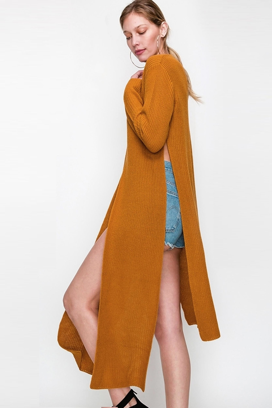 Bonded Chic Tie Sweater - Front Full Image