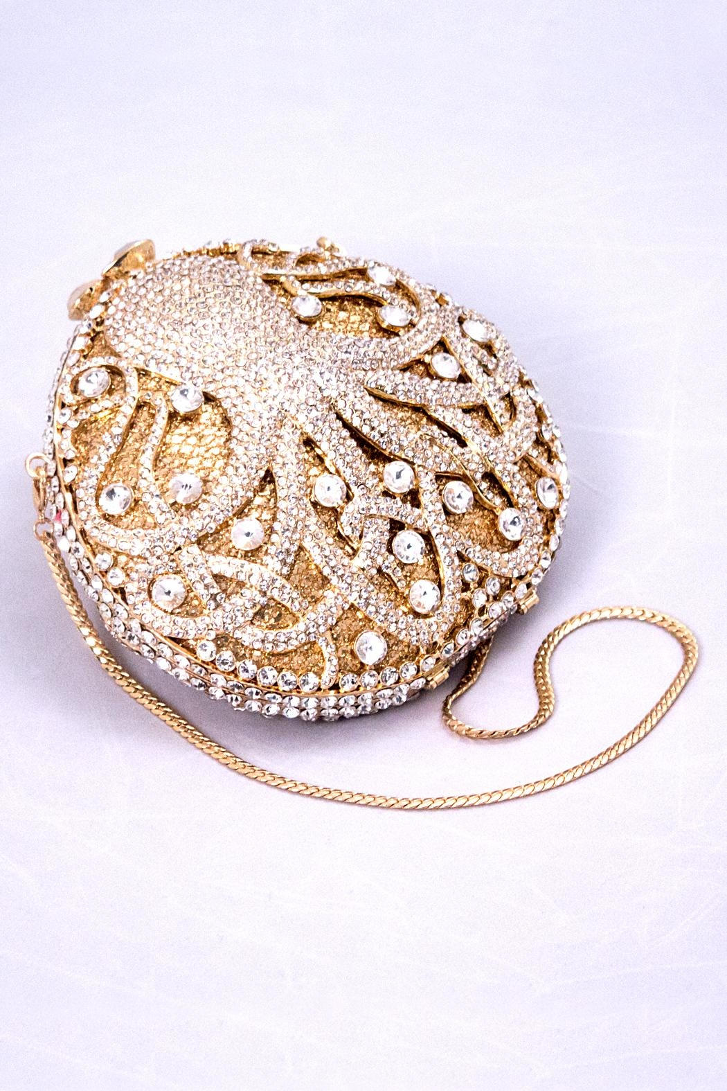Chic and Shore Things Crystal Octopus Clutch - Front Cropped Image