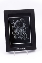 Chic and Shore Things Framed Octopus Print - Product Mini Image