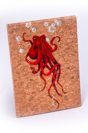 Chic and Shore Things Octopus Cork Bound Journal - Front cropped