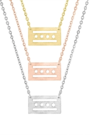 The Colette Collection Chicago Flag Necklace - Front full body