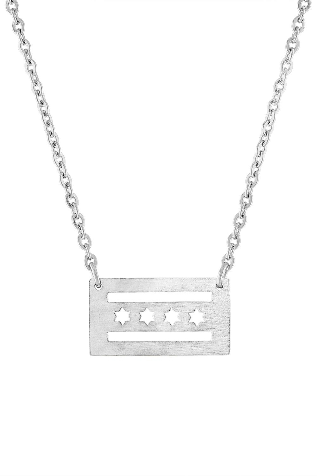 The Colette Collection Chicago Flag Necklace - Main Image