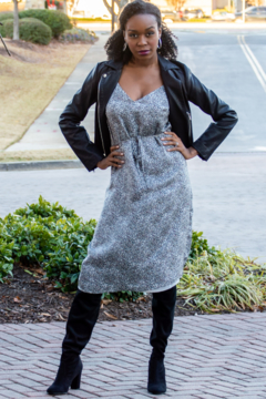 Cupcakes and Cashmere Chicago Leopard Print Midi Dress - Product List Image
