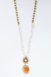 CHICKS MTY Long Agate Necklace - Front full body