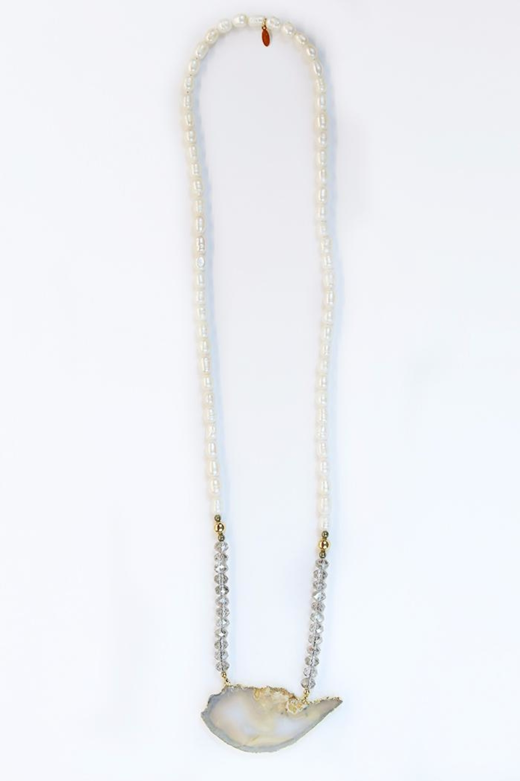CHICKS MTY Long Agate Necklace - Main Image