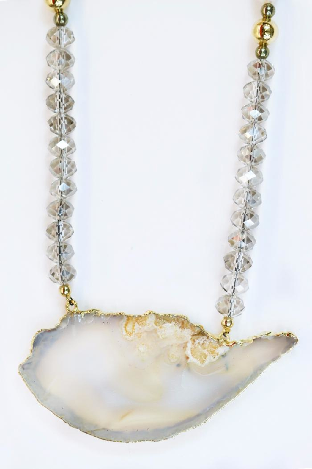 CHICKS MTY Long Agate Necklace - Front Full Image