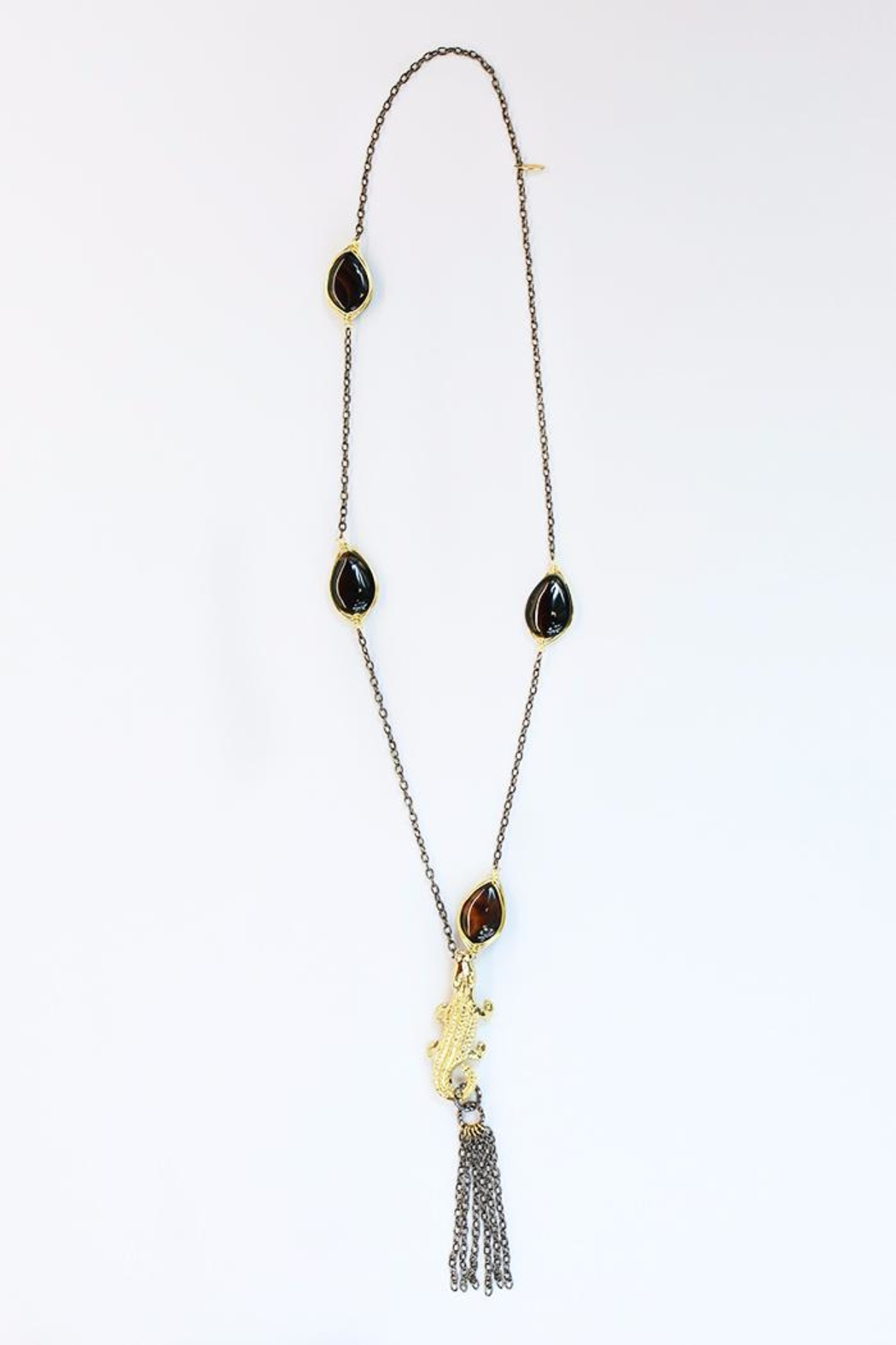 CHICKS MTY Long Crocodile Necklace - Main Image