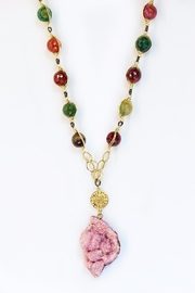 CHICKS MTY Long Druzy Necklace - Front full body